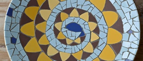 Mozaiek-slang-rond